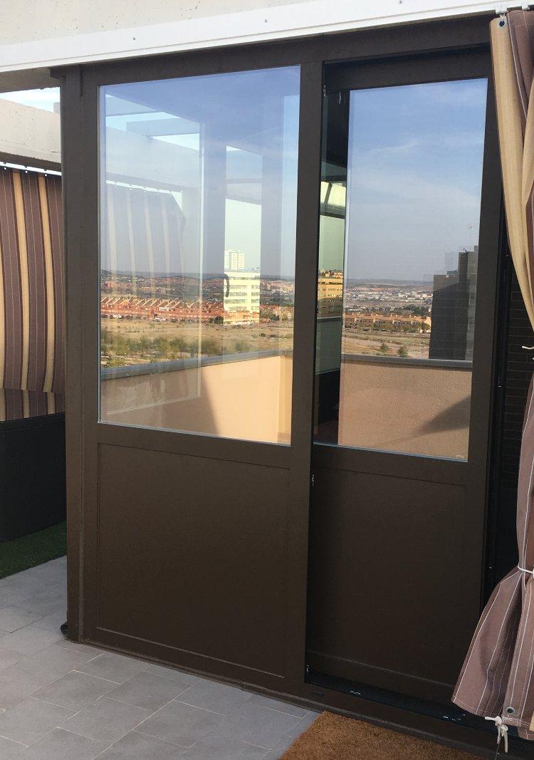 Puertas de terraza beautiful puertas correderas balcn for Puertas correderas terraza