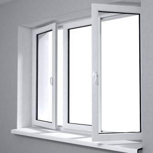 Ventanas de aluminio o PVC. Una imagen con una ventana abierta.